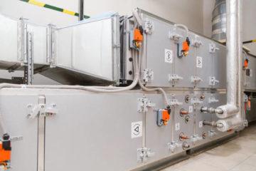 Industrial ventilation handling unit. Recirculation system appliance.